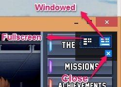 Use the menu option