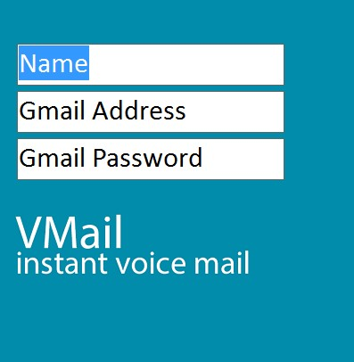 VMail setting up email