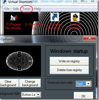 Virtual Shortcuts 04 create shortcuts