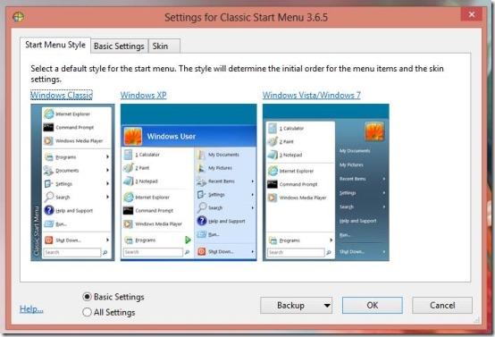 Windows7 start menu on Windows 8