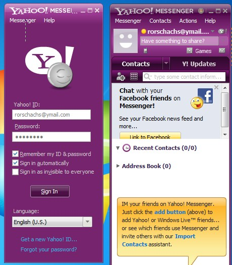 YM Multi Login Maker two working windows