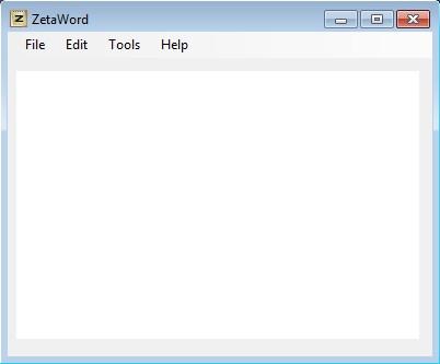ZetaWord default window