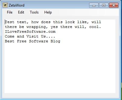 ZetaWord text added