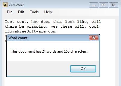 ZetaWord word count