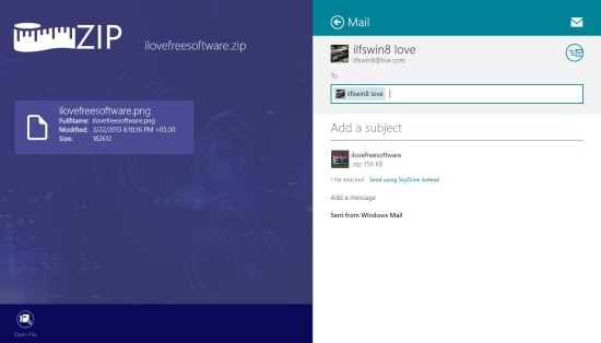 Zip Archiver For Windows 8 sharing files