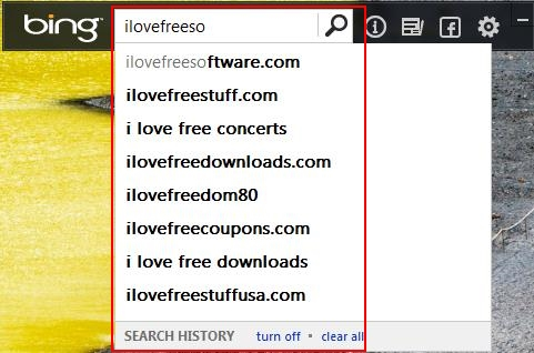 bing desktop suggestions