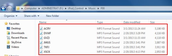 copy ipod songs to pc songs