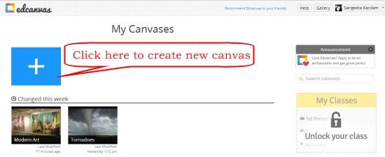 edcanvas create class
