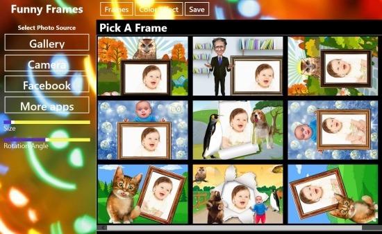 frames in funny frame for windows 8