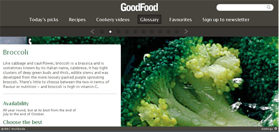 good food glossary