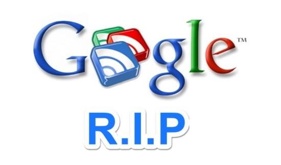 google reader r.i.p logo