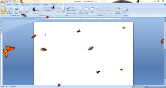 insects on desktop demo