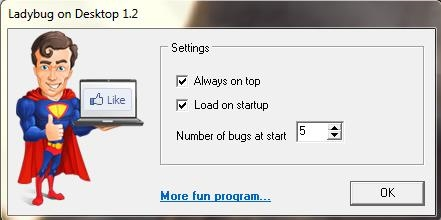 insects on desktop settings