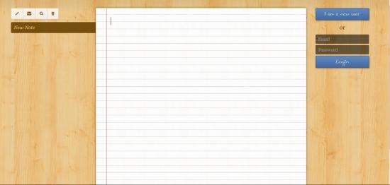 memo notepad interface