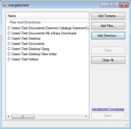 mergetorrent added files