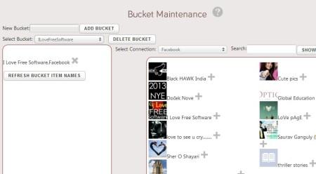 mybucketz adding feeds to buckets