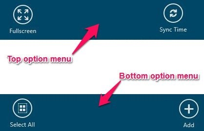option menu in world clock for windows 8