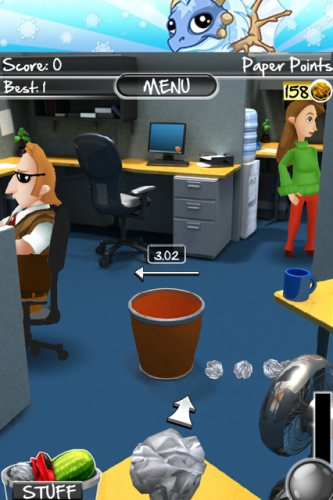 paper toss cubicle