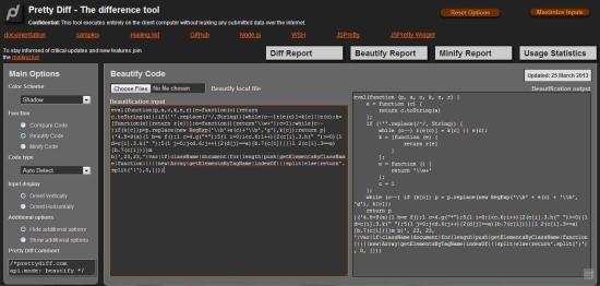 10 Free Online JavaScript Beautifier / Unminifier / Decompressor