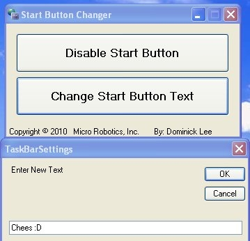 start button changer interface