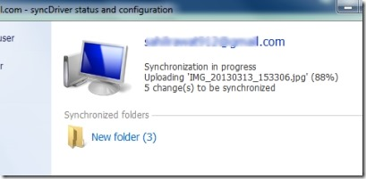syncDriver 002 sync to SkyDrive