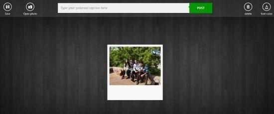 use Polaroid App For Windows 8