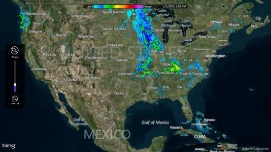 weather radar app for Windows 8