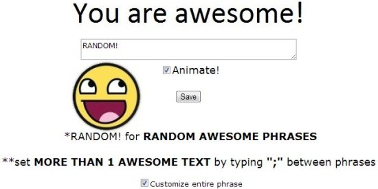 you are awesome options