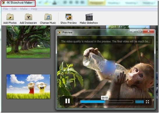 4K Slideshow Maker 01 create photo slideshow