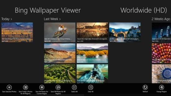 Bing Wallpaper Viewer For Windows 8