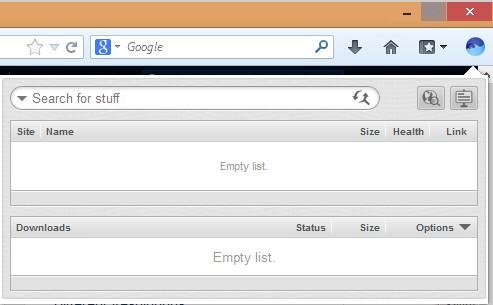 BitTorrent surf Firefox addon default window