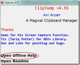 ClipJump 04 clipboard manager for Windows