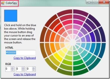 ColorSpy 01 color picker application