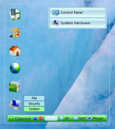 Concord App default window