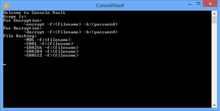 Console Vault default window