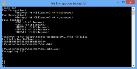 Console Vault encrypting file