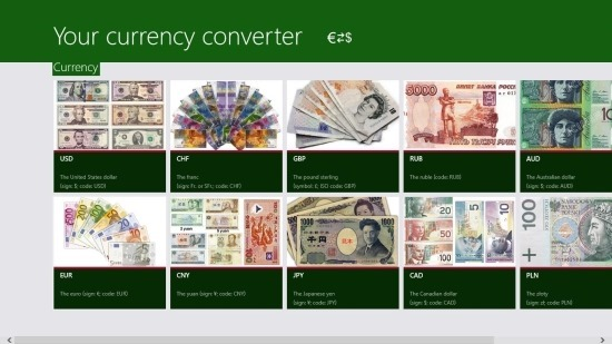 Currency Converter for Windows 8