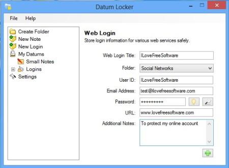 Datum Locker adding account