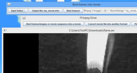 FFMpeg Drive default window