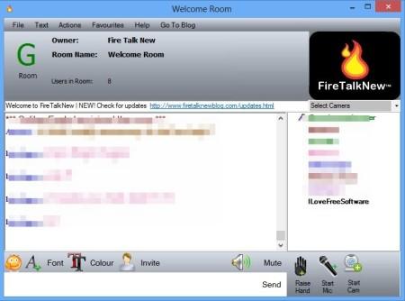 FireTalkNew chat session
