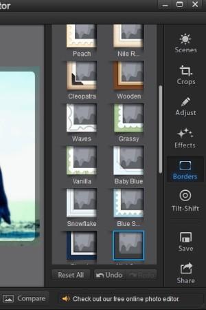 Fotor right sidebar