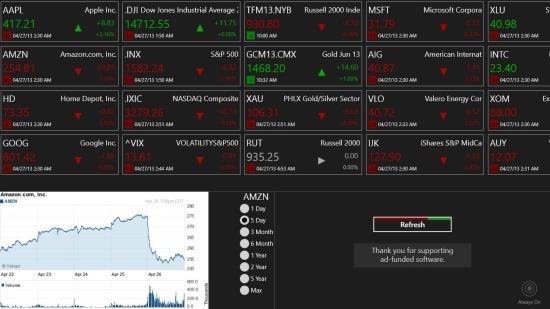 Free Stock Tracker for Windows 8