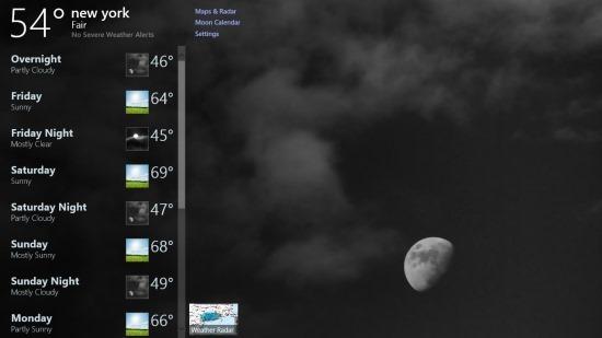 Free Windows 8 Weather App
