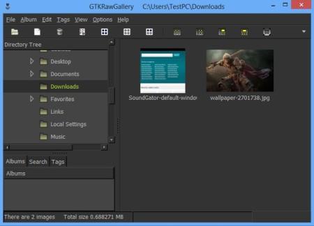 GTKRawGallery default window