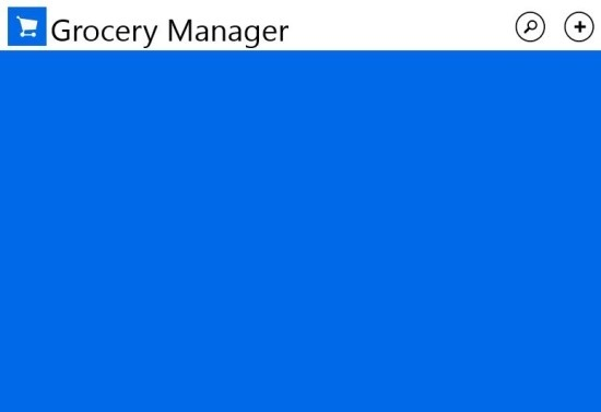 Grocery Manager App For Windows 8