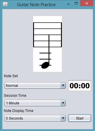 Guitar Note Practice default window