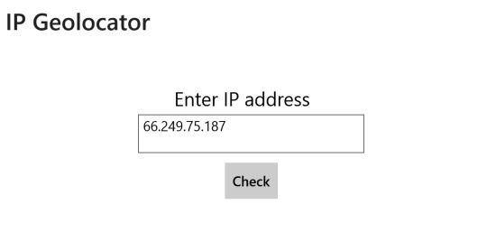 IP Geolocator