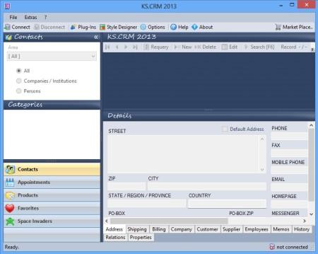 KS CRM 2013 default window