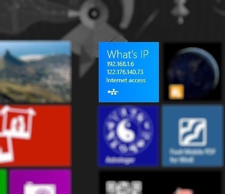 Know Your IP On Windows 8