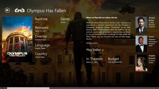 Live Mall Movies app For Windows 8
